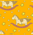 baby toys horse seamles pattern vector image