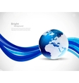 Background with globe vector image vector image