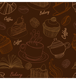 bakery seamless 2 vector image vector image