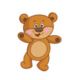 bear cub on a white background vector image vector image
