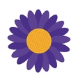 blue flower icon vector image vector image