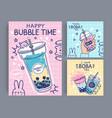 bubble tea banner famous drink asian tea vector image