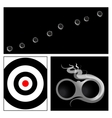 bullet hole and target vector image vector image