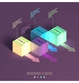 Business Infographics cube vector image vector image