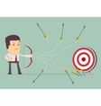 Businessman shooting arrow vector image vector image