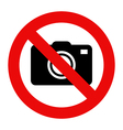 Cameras prohibited sign vector image vector image