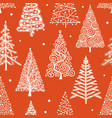 christmas trees seamless pattern for your design vector image vector image