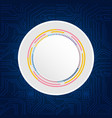 circle grey abstract technology blue background ve vector image