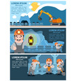 coal infographics coal mining and transportation vector image