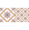 colorful ceramic pattern vector image