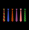colourful tie set vector image vector image
