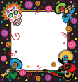 day of the dead party invitation vector image vector image