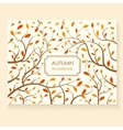 decorative autumn card vector image