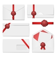 envelopes with a wax seal set vector image