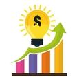 Financial Growth design vector image vector image