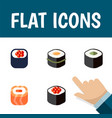 flat icon salmon set of japanese food eating vector image vector image