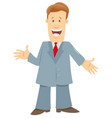 funny manager or businessman cartoon character vector image vector image
