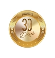 Golden badge guaranteed vector image vector image