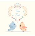 greeting card with a picture of bird lovers vector image vector image
