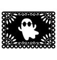 halloween ghost papel picado design mexican vector image vector image