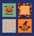 halloween notes set template vector image vector image