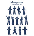 hand drawn male characters set vector image