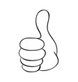 hand thumb up cartoon symbol icon design vector image vector image