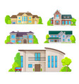 houses home buildings architecture real estate vector image vector image