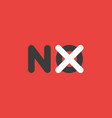 icon concept of no word with x mark on background vector image vector image
