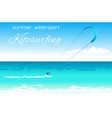 kitesurfing summer watersport concept vector image