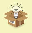 Lightbulb in the box vector image