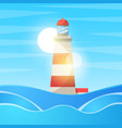 lighthouse sea - cartoon landscape vector image