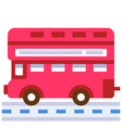 london bus flat vector image vector image