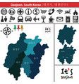 map of daejeon with districts south korea vector image vector image