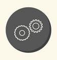 mechanical gears symbolizing mechanics a circular vector image