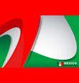 mexico flag background vector image