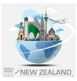New Zealand Landmark Global Travel And Journey vector image vector image