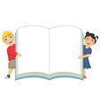 Of Cute Children Holding Book vector image vector image
