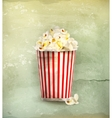 Popcorn old-style vector image