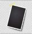 realistic photo frame on sticky tape template vector image vector image