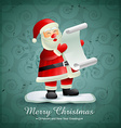 santa claus with list of gifts vector image vector image