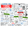 school doodles set vector image vector image