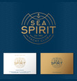 sea spirit emblem yacht club emblem vector image