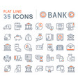 set line icons bank vector image