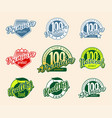 set retro labels and icons vector image vector image