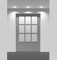 showroom panel vector image vector image