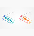 signboard open closed vector image