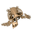 skeleton of a prehistoric turtle isolated vector image vector image