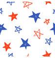 sketchy hand drawn stars vector image vector image