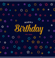 stylish happy birthday card design with colorful vector image vector image